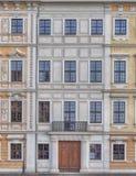 Husfasad, Dresden, Sachsen Tyskland Arkivfoton