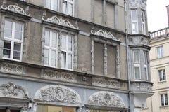 Husfasad Gdansk, Polen royaltyfri bild