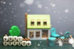 Husfastighetmodell Arkivfoto