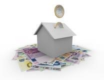 Husfinanser Arkivfoton