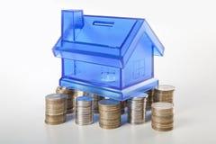 Husfundation och mynt Arkivbild