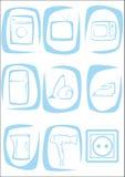 Hushållanordningar royaltyfri illustrationer