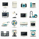Hushållanordningar och symboler för elektroniska apparater Royaltyfri Fotografi
