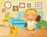 hushållerska royaltyfri illustrationer
