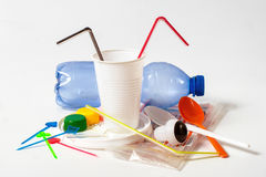 Hushållplast-avfalls Royaltyfri Bild