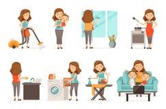 hushållsarbete vektor illustrationer
