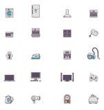Hushållsmaskinsymbolsuppsättning Arkivbilder