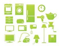 hushållsymboler Arkivfoto