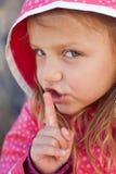 Hush.it è un segreto Fotografie Stock Libere da Diritti
