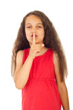 Hush!Be quiet! Royalty Free Stock Photo