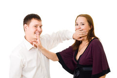 Hush - keep your secrets Stock Photography
