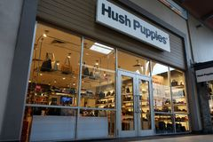 Hush Puppies store at Genting Highlands Premium Outlets. GENTING HIGHLANDS, MALAYSIA- DEC 03, 2018 : Hush Puppies store at Genting Highlands Premium Outlets royalty free stock images