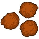 Hush Puppies. A vector illustration of Hush Puppies Stock Image