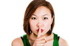Hush - it's a secret! Stock Image