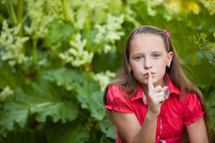 Hush, it is a secret Royalty Free Stock Photography