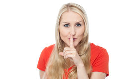 Hush...Silence please! Royalty Free Stock Photography