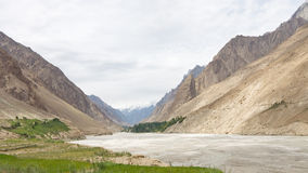 Hushe River Valley, Karakorum, Pakistan Royalty Free Stock Photo