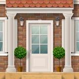 Husingång med kolonner Royaltyfri Fotografi