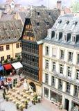 huskammerzell gammala strasbourg Arkivbild