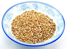 Husked Buckwheat Rice Stock Photo
