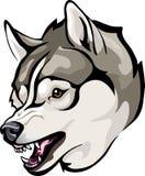 Huskiesondskan grinar Vektor Illustrationer