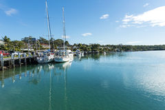 Huskisson New South Wales Yachts creek reflections Royalty Free Stock Photo