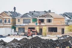 Huskonstruktion, Edmonton, Alberta arkivbild