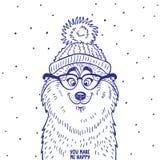 Husky in cappello Fotografia Stock Libera da Diritti