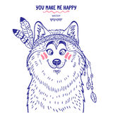 Husky cute Stock Image