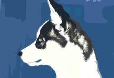 husky docka royaltyfri illustrationer