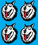 Husky dog cartoon portait design illustration Royalty Free Stock Image