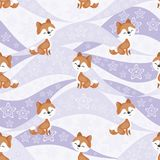 Husky dog pattern Royalty Free Stock Image