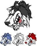 Husky Mascot Vector Logo Stock Photo