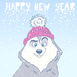 Husky New Year Royalty Free Stock Photography