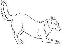 Historieta Del Perro Del Perro Esquimal O Del Malamute Ilustracion