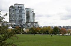 huslägenhet i stadens centrum Vancouver Arkivfoto