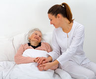 Häusliche Pflege Lizenzfreie Stockfotos