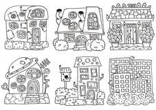 Huslinework Handteckningsuppsättning stock illustrationer