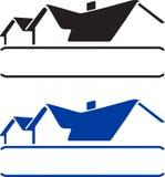 huslogo vektor illustrationer