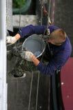 husmålareworking Royaltyfria Foton