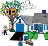 husmålning Arkivbild