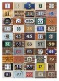 husnummer Fotografering för Bildbyråer