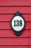 Husnummer. royaltyfri fotografi