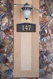 Husnummer Royaltyfri Foto