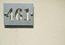 Husnummer fyra hundratals och sextio en 462 fyra sex en på Royaltyfri Bild