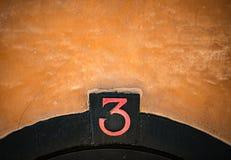 Husnumret undertecknar in Stockholm, Sverige Fotografering för Bildbyråer
