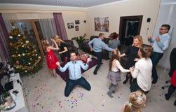 Husparti på ny Year' s-helgdagsafton royaltyfria bilder