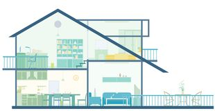 husplan vektor illustrationer
