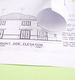 husplan Arkivbild
