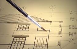 husplan Fotografering för Bildbyråer